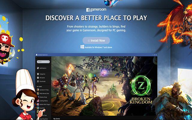 Facebook Reveals its Gameroom Windows Desktop Gaming Platform