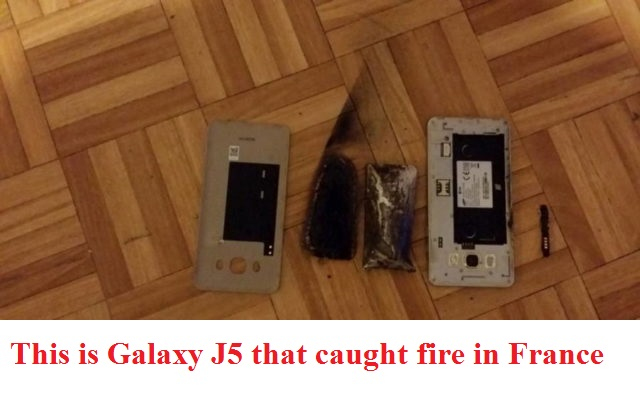 Samsung Galaxy J5 Catches Fire