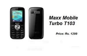 Maxx Mobile Launches Turbo T103