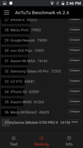 qmobile x700 pro 2 antutu results