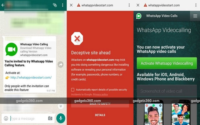 WhatsApp Video Calling Fake Invites Leading Users to Malicious Sites