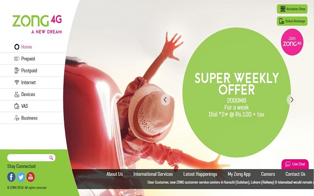 Zong Launches New Website for Enhancing Customer Experience