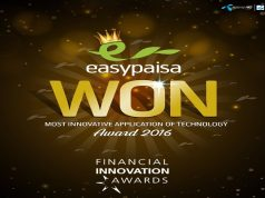 Easypaisa Bags an Award at the 2016 Financial Innovation Awards