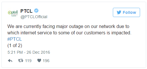 PTCL & Ufone Services Faced Massive Internet, Cellular Outage