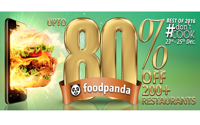 FoodPanda to Close This Year with DontCook (23rd – 25th Dec) Campaign