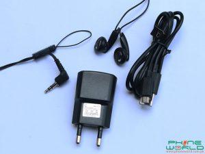 qmobile noir i2 pro charger data cable headphones