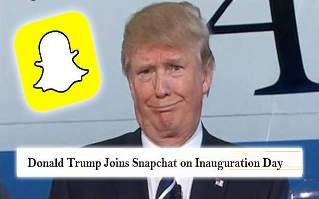 Donald Trump Joins Snapchat on Inauguration Day
