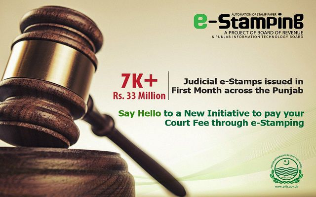 PITB Issues Over 7000 Judicial e-Stamps Just in a Month