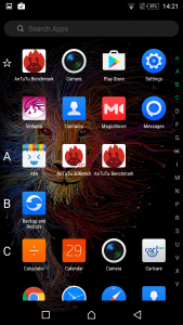 infinix zero 4 plus interface display