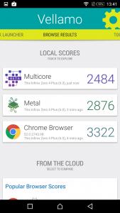 infinix zero 4 plus vellamo scores and comparison