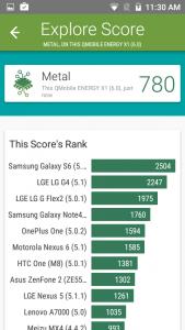 qmobile energy x1 vellamo scores and comparison