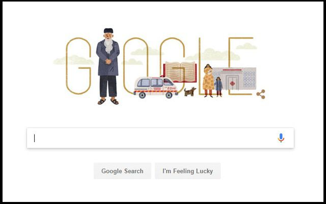 Google Pays Tribute to the Legendary Abdul Sattar Edhi on 89th Birthday