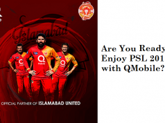 QMobile Becomes the Official Partner of Islamabad United for PSL 2017