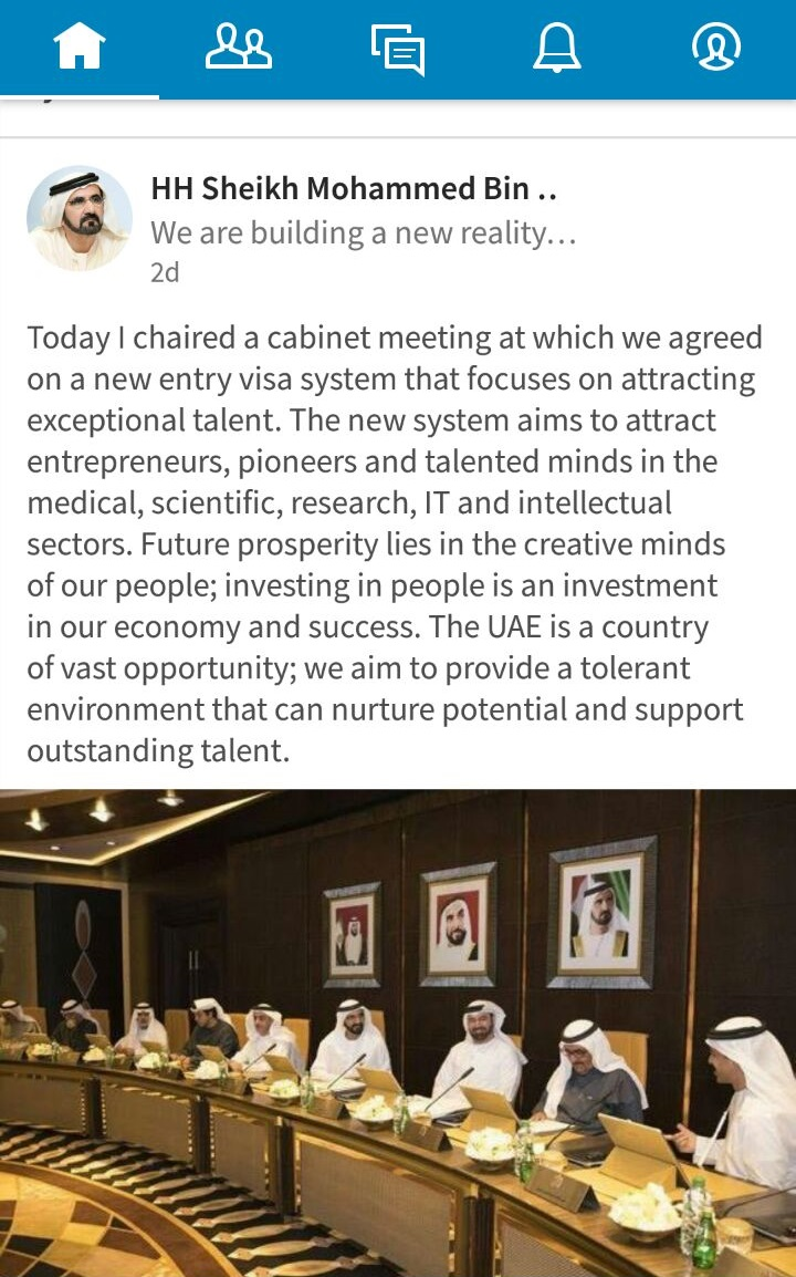 UAE to Adopt New Visa System to Attract Top Foreign Talent including IT Professionals