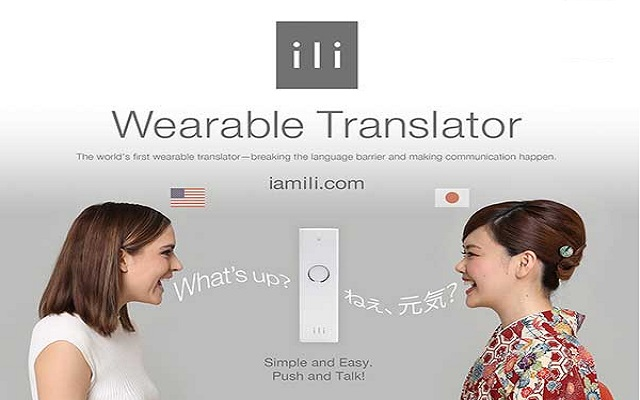 ili: A Device that Instantly Translates English, Japanese and Chinese