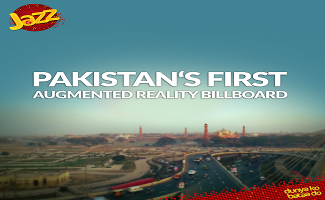 Jazz Introduces Pakistan's First Ever Augmented Reality Billboard