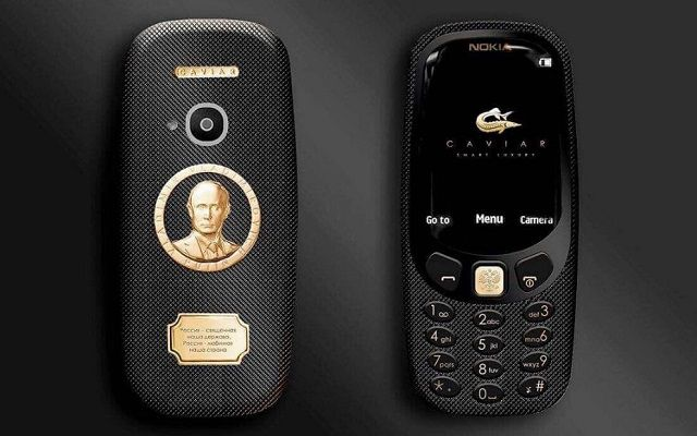 Meet Nokia 3310 that Features a Gold-Plated Portrait of Vladimir Putin