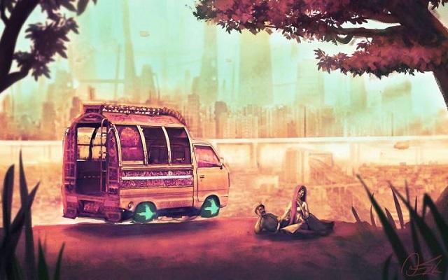Omar Gilani's Art Portrays the Mesmerizing Sci-Fi Landscape of Pakistan