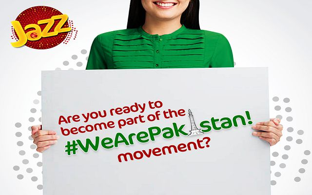 Celebrate Pakistan Day with Jazz & Become a Part of #WeArePakistan Movement