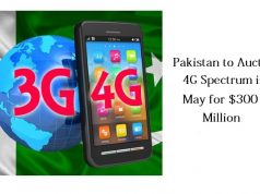 Pakistan to Auction 4G Spectrum in May for $300 Million