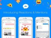 Facebook Messenger Brings Mention Alerts and Message Reaction Emoji