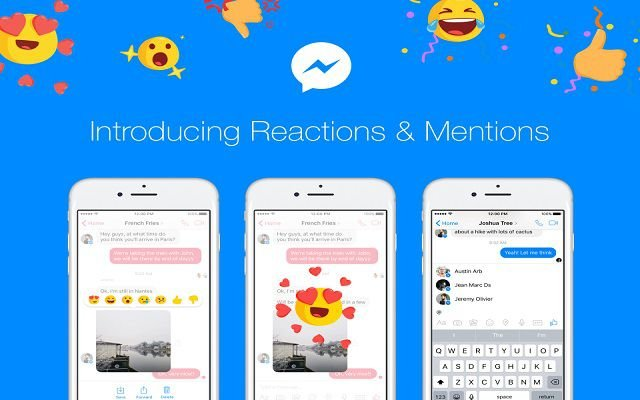 Facebook Messenger Brings Mention Alerts and Message Reaction Emoji