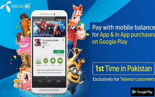 Telenor Empowers Customers to Shop on Google Play Store Using their Mobile Balance