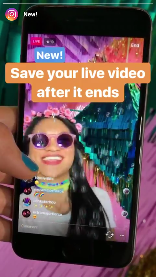 You can Now Save Instagram Live videos to your Phone; Here is How