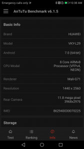 huawei p10 plus antutu scores and comparison results
