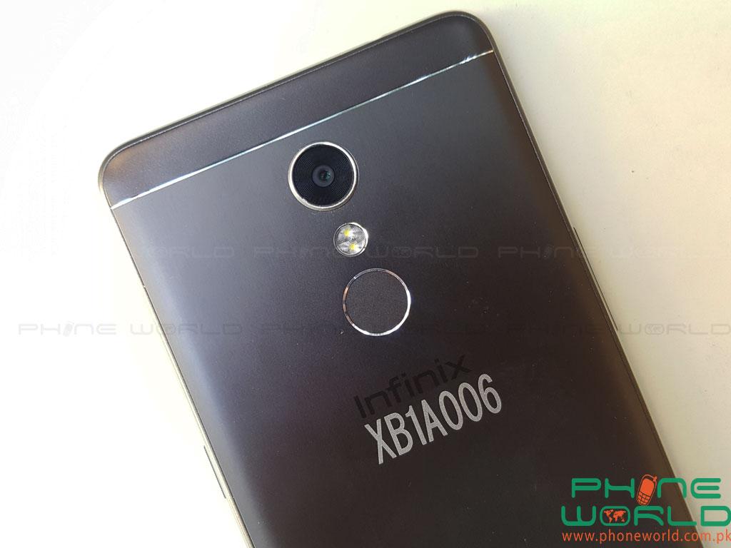 infinix s2 back camera fingerprint sensor flash light