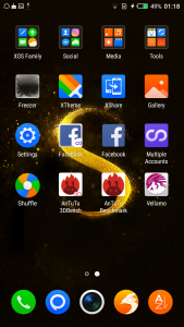 infinix s2 interface display results