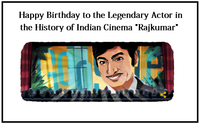 Google Pays Tribute to the Legendary Actor Rajkumar on his 88th Birthday