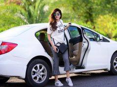 Mawra Hocane as #RiderZero in Islamabad