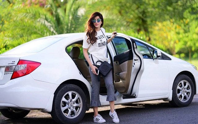 Mawra Hocane as #RiderZero in Islamabad