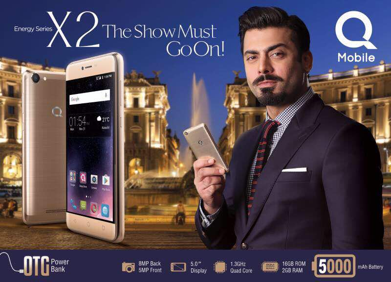 Fawad Khan doubles the Energy for QMobile's Latest X2