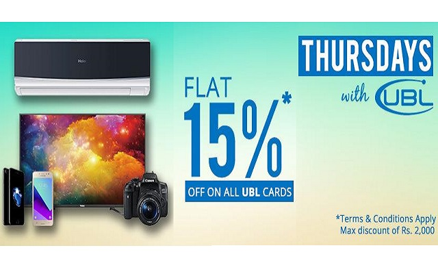 Yayvo Offers 15% OFF on All Products with UBL Debit/Credit Card