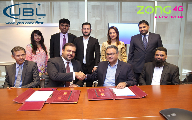 Zong Enters into Strategic Partnership with United Bank Limited