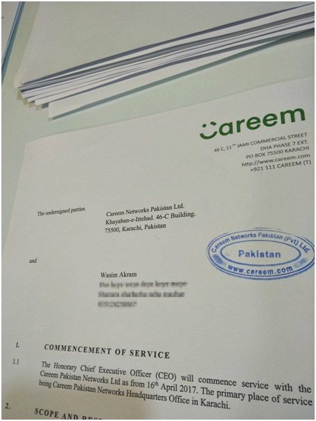 Wasim Akram Joins as the Honorary CEO of Careem Pakistan