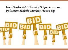 PTA Receives Bid for 4G Spectrum Auction; Jazz to Get the Additional 10MHz