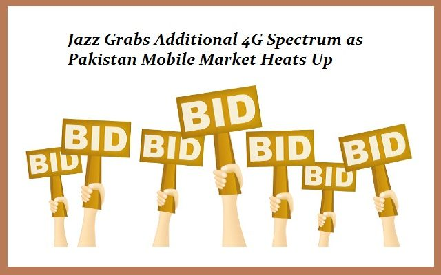 PTA Receives Bid for 4G Spectrum Auction; Jazz to Get the Additional 10MHz