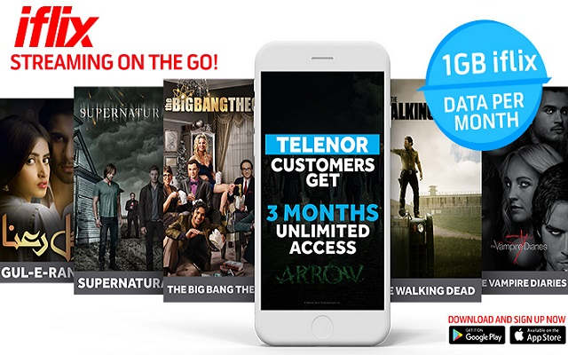 Telenor Pakistan Partners with Iflix to Offer 3 Months Unlimited Access for Users