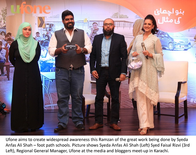 Ufone Supports the Cause of Educating Street Children