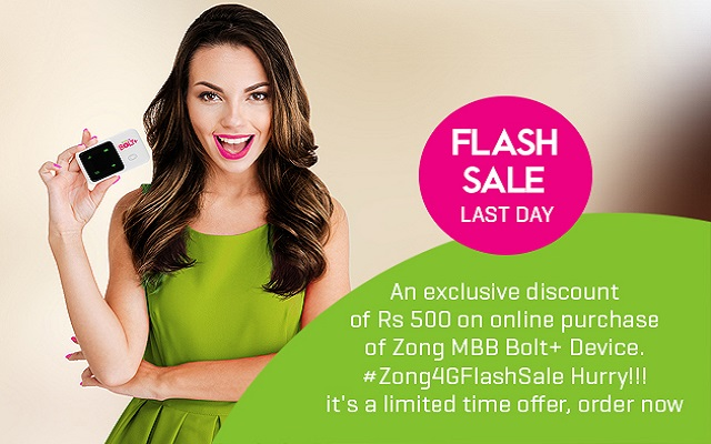 Zong Offers Unbeatable Discounts in Zong 4G Flash Sale