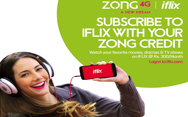 Now Subscribe to Ifilx with your Zong Credit to Watch Your Favorite Movies & Dramas