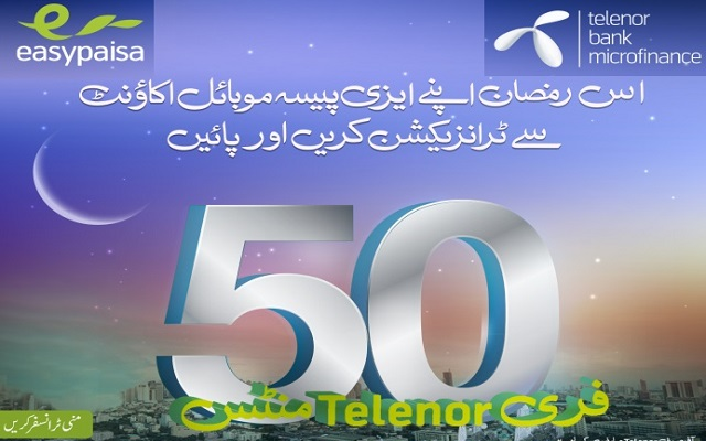 Easypaisa Account Holders Using Telenor Prepaid Connections to Get Free Minutes During Ramadan
