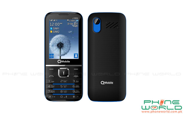 QMobile Launches Big Battery Phone J1000 in Rs.2099/-