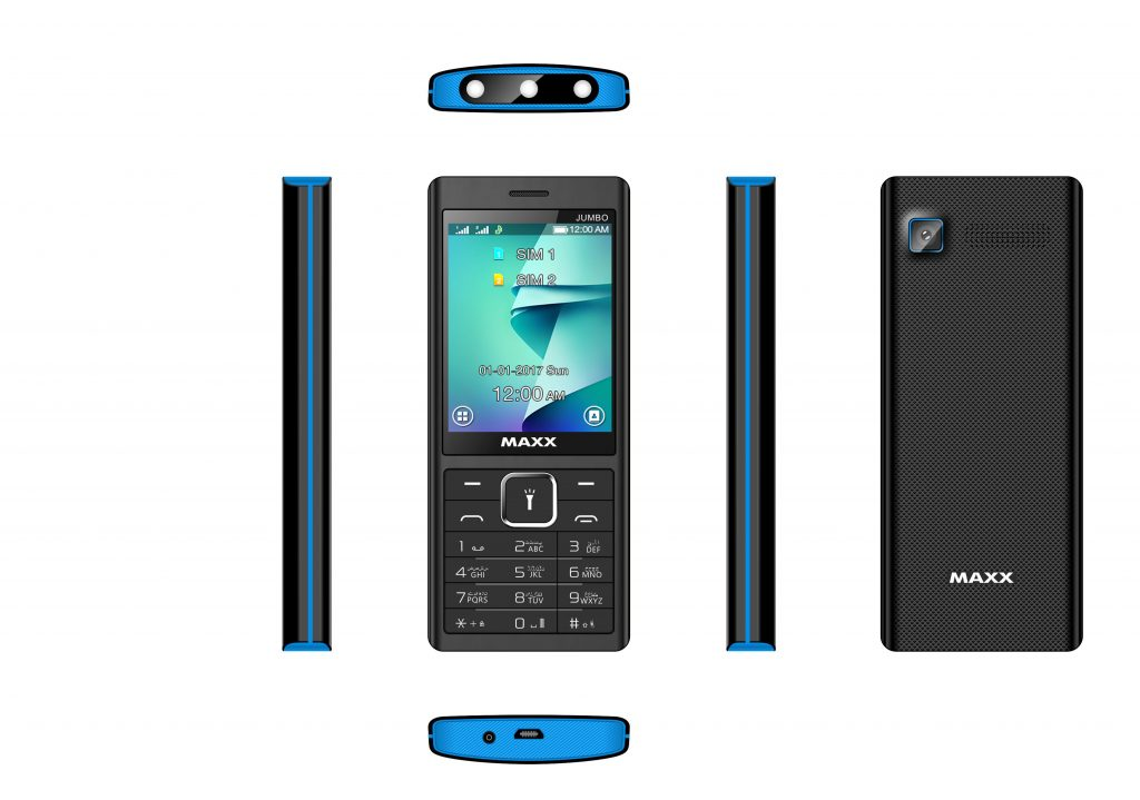 MAXX Mobile Releases Jumbo with 3 LED Torch in Rs.1725/-