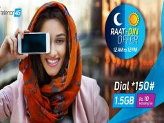 Now Enjoy Fastest 4G Internet with Telenor Raat Din Offer
