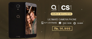 QMobile CS 1: The Ultimate Selfie Phone is ready for its Close-up at Daraz.pk