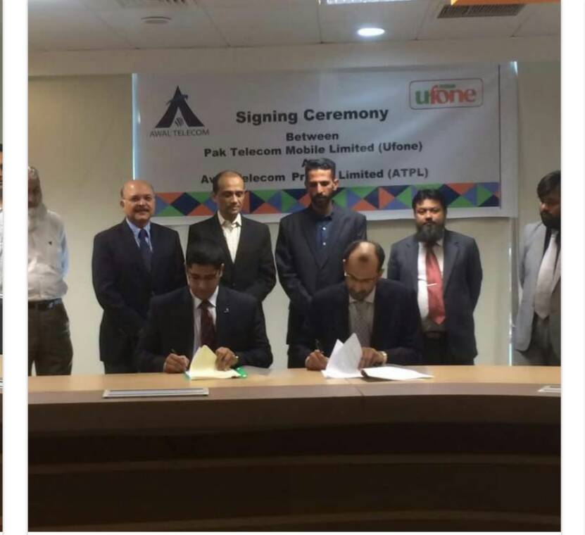 AWAL Telecom and Ufone Signs Tower Leasing Agreement